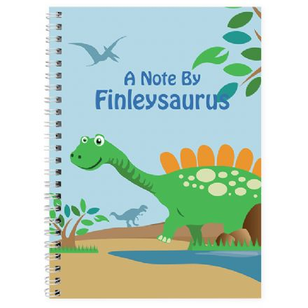 Personalised A5 Notebook - Dinosaur